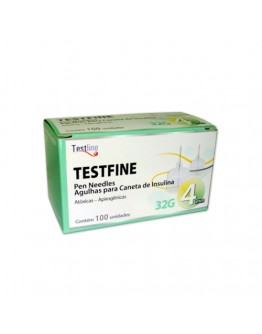 Agulha para Caneta de Insulina 4mm Testfine - TestJect