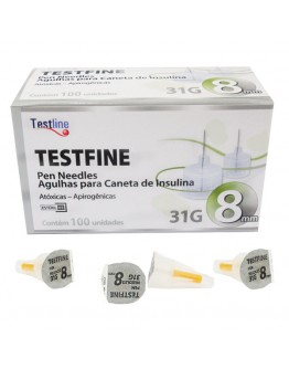 Agulha para Caneta de Insulina 8mm Testfine - TestJect